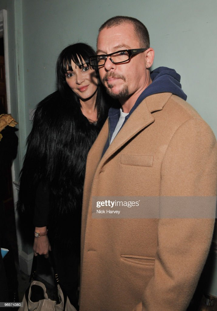 Annabelle Nielson and Alexander McQueen attend the opening night of 'The Embassy' exhibition at 33 Portland Place on October 15, 2009 in London, England.