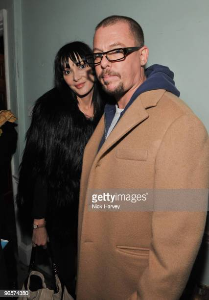 Annabelle Nielson and Alexander McQueen attend the opening night of 'The Embassy' exhibition at 33 Portland Place on October 15 2009 in London England