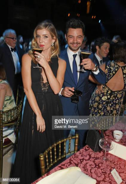 Annabelle Wallis and Dominic Cooper attend the London Evening Standard Theatre Awards 2017 after party at the Theatre Royal Drury Lane on December 3...