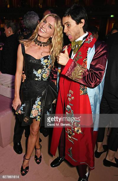 Annabelle Wallis and Jared Leto attend The Fashion Awards 2016 drinks reception at Royal Albert Hall on December 5 2016 in London United Kingdom