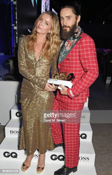 Annabelle Wallis and Jared Leto winner of the Actor award attend the GQ Men Of The Year Awards at the Tate Modern on September 5 2017 in London...