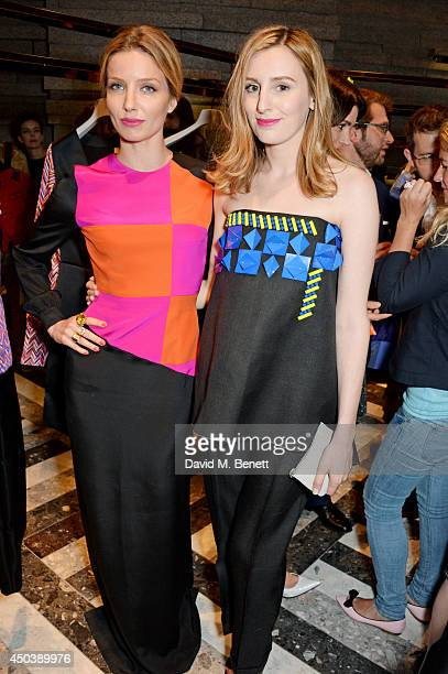 Annabelle Wallis and Laura Carmichael attend the opening of Roksanda on Mount Street on June 10 2014 in London England