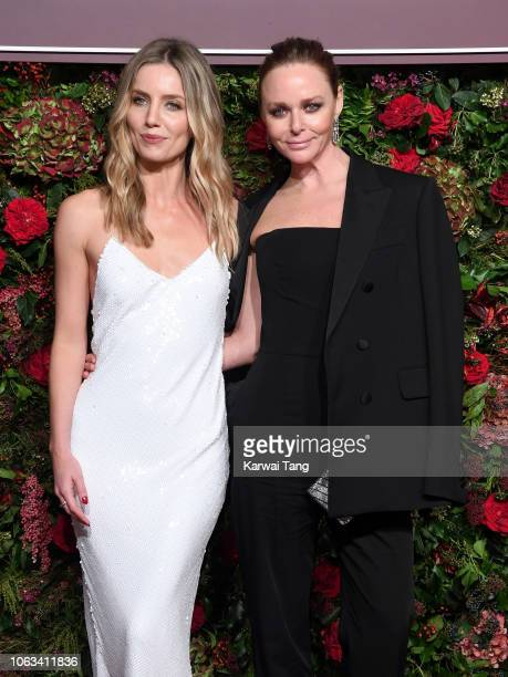 Annabelle Wallis and Stella McCartney attend the Evening Standard Theatre Awards 2018 at Theatre Royal Drury Lane on November 18 2018 in London...