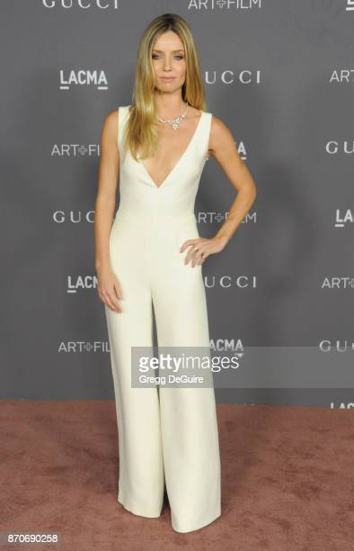 Annabelle Wallis arrives at the 2017 LACMA Art Film Gala honoring Mark Bradford and George Lucas at LACMA on November 4 2017 in Los Angeles California
