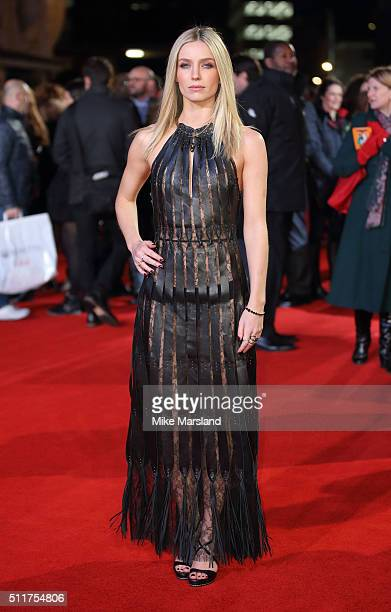 Annabelle Wallis arrives for the World premiere of 'Grimsby' at Odeon Leicester Square on February 22 2016 in London England