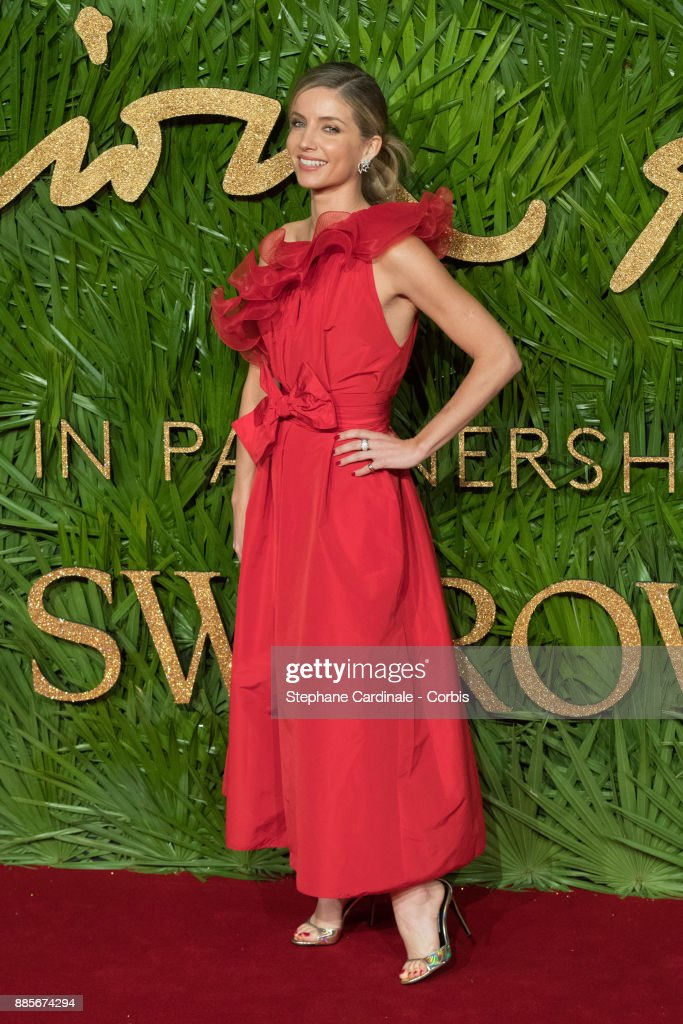 Annabelle Wallis attend the Fashion Awards 2017 In Partnership With Swarovski at Royal Albert Hall on December 4, 2017 in London, England.