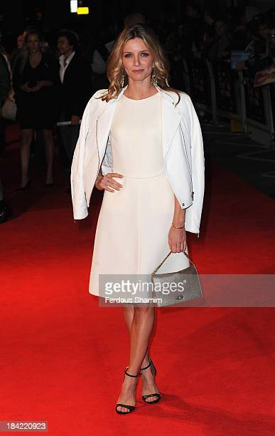 Annabelle Wallis attends a screening of 'Hello Carter' during the 57th BFI London Film Festival at Odeon West End on October 12 2013 in London England