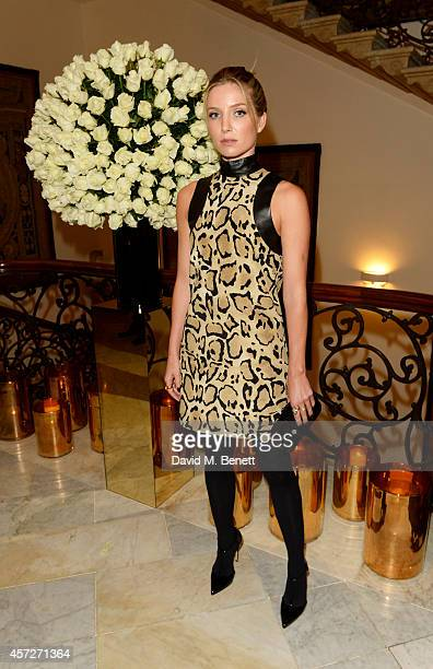 Annabelle Wallis attends private reception hosted by Gucci Frieze Masters in honour of the speakers at Frieze Masters Talks 2014 at Italian Embassy...