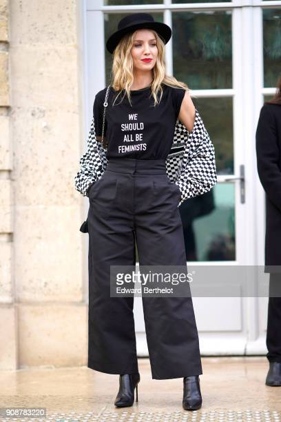 Annabelle Wallis attends the Christian Dior Haute Couture Spring Summer 2018 show as part of Paris Fashion Week on January 22 2018 in Paris France