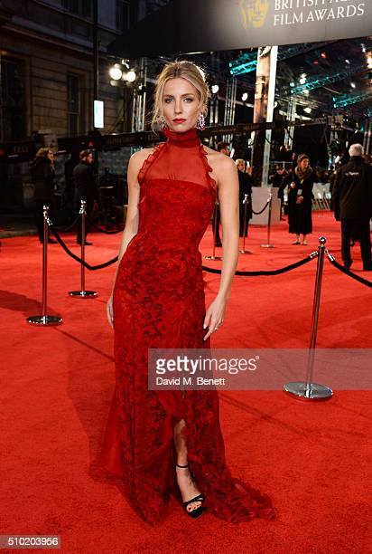 Annabelle Wallis attends the EE British Academy Film Awards at The Royal Opera House on February 14 2016 in London England