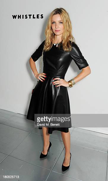 Annabelle Wallis attends the front row at the Whistles show during London Fashion Week SS14 at Heron Tower on September 14 2013 in London England