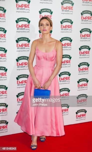Annabelle Wallis attends the Jameson Empire Film Awards at The Grosvenor House Hotel on March 30 2014 in London England