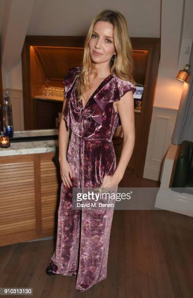 Annabelle Wallis attends the launch of Teresa Tarmey's new 'at home facial system' at Mortimer House sponsored by CIROC on January 25 2018 in London...