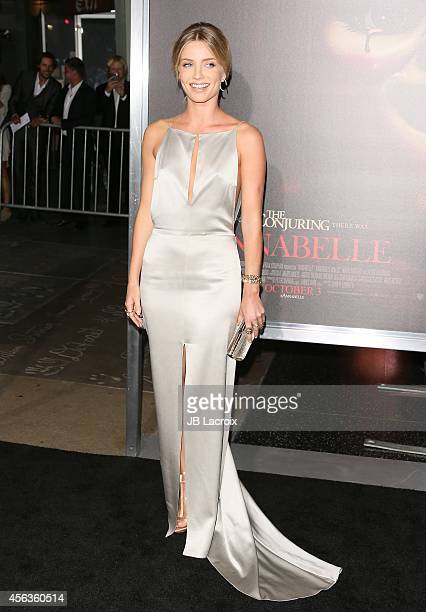 Annabelle Wallis attends the Los Angeles special screening of New Line Cinema's 'Annabelle' on September 29 in Hollywood California