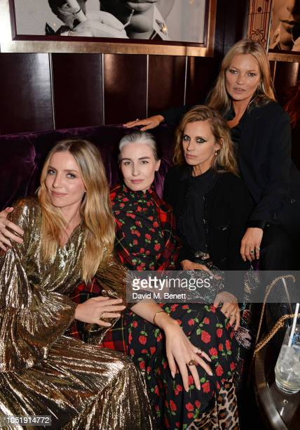 Annabelle Wallis Erin O'Connor Laura Bailey and Kate Moss attend the Michael Kors cocktail party to celebrate the collaboration with David Downton at...