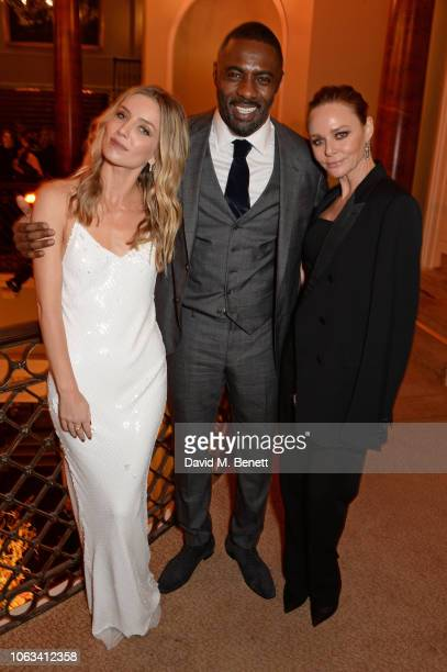 Annabelle Wallis Idris Elba and Stella McCartney attend The 64th Evening Standard Theatre Awards at the Theatre Royal Drury Lane on November 18 2018...