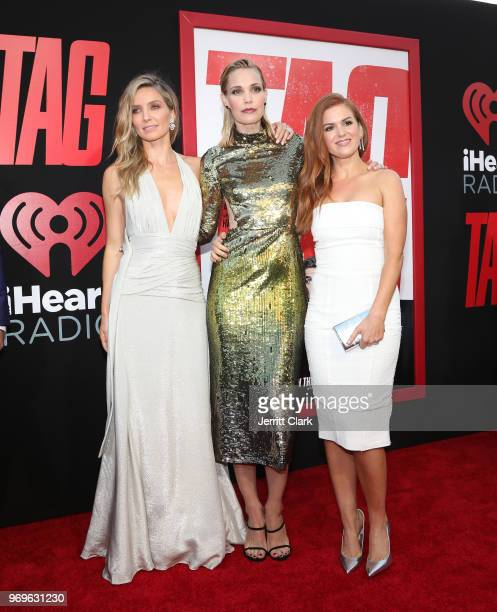 Annabelle Wallis Leslie Bibb and Isla Fisher attend the Premiere Of Warner Bros Pictures And New Line Cinema's Tag at Regency Village Theatre on June...