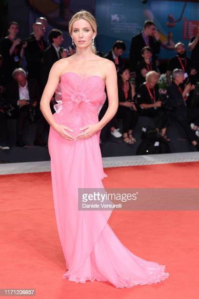 """Annabelle Wallis walks the red carpet ahead of the """"Seberg"""" screening during the 76th Venice Film Festival at Sala Grande on August 30, 2019 in..."""