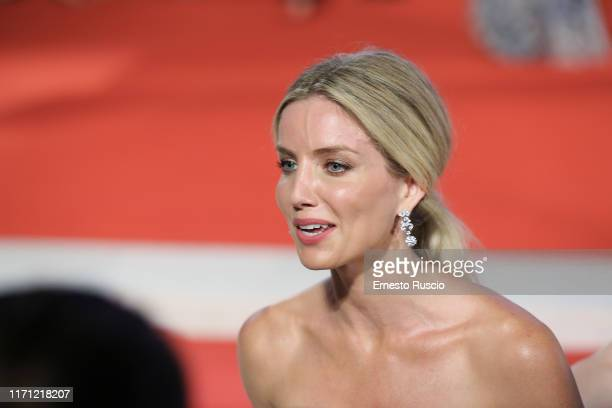 Annabelle Wallis walks the red carpet ahead of the Seberg screening during the 76th Venice Film Festival at Sala Grande on August 30 2019 in Venice...
