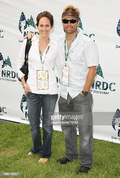 Annabeth Gish and David Chokachi during NRDC's Day Of Discovery Arrivals at Wadsworth Theater Grounds in Brentwood California United States