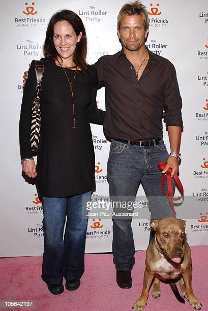 Annabeth Gish and David Chokachi during The Lint Roller Party Arrivals at Smashbox Studios in Culver City California United States