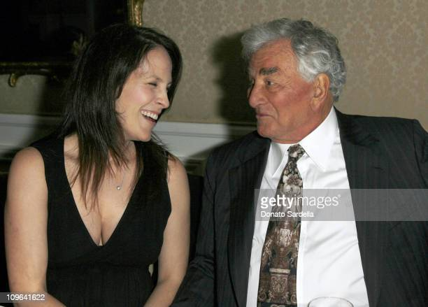 Annabeth Gish and Peter Falk during Gucci by Gucci Book Party With Film Foundation October 25 2006 at Bel Air Hotel in Bel Air California United...