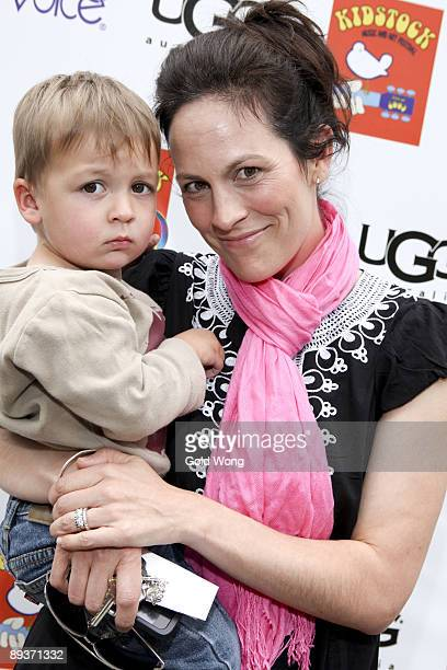 Annabeth Gish and Son arrive to The 3rd Annual Kidstock Music and Arts Festival at Greystone Mansion on May 31 2009 in Beverly Hills California