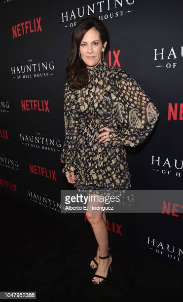 Annabeth Gish attends the premiere of Neflix's The Haunting Of Hill House at ArcLight Hollywood on October 8 2018 in Hollywood California