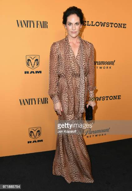 Annabeth Gish attends the premiere of Paramount Pictures' 'Yellowstone' at Paramount Studios on June 11 2018 in Hollywood California