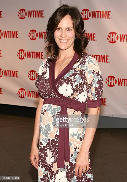 Annabeth Gish during Showtime's Dexter Los Angeles Premiere Arrivals at Director's Guild of America in Beverly Hills California United States