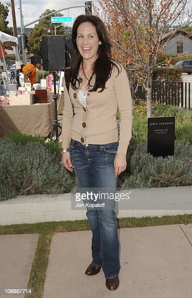 Annabeth Gish during The John Varvatos 4th Annual Stuart House Charity Benefit Arrivals at John Varvatos Boutique in West Hollywood California United...