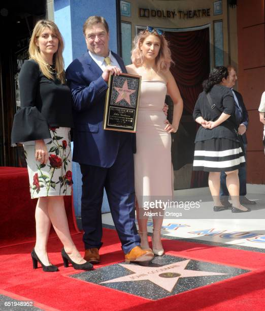 Annabeth Goodman actor John Goodman and daughter Molly Goodman at John Goodman's star ceremony held on The Hollywood Walk of Fame on March 10 2017 in...