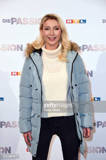 AnnaCarina Woitschack attends the photocall and press conference of RTL TV show Die Passion at FunFood Factory on February 18 2020 in Essen Germany