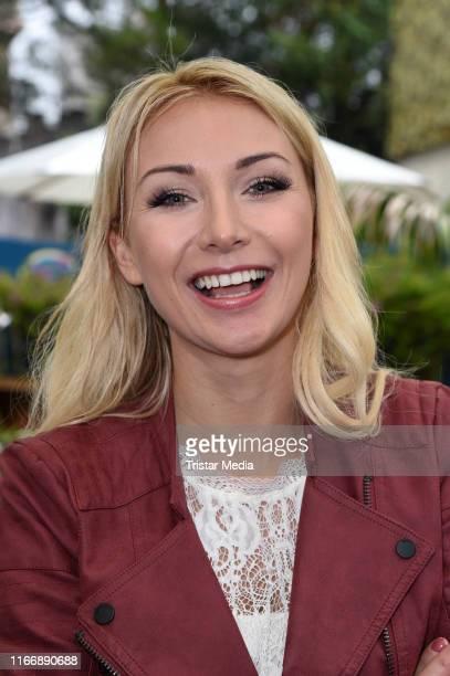 "Anna-Carina Woitschack during the ""Immer wieder sonntags"" ARD Live TV show at Europa-Park on September 8, 2019 in Rust, Germany."