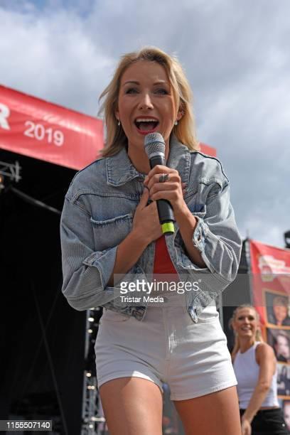 AnnaCarina Woitschack performs the Radio B2 SchlagerHammer Festival at Racecourse Hoppegarten on July 13 2019 in Berlin Germany