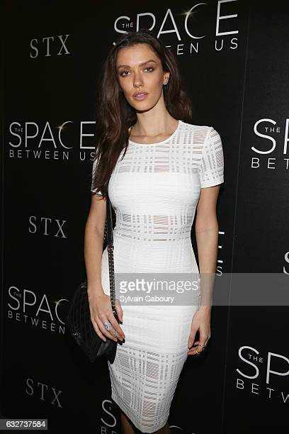 """Anna-Christina Schwartz attends STX Entertainment with The Cinema Society Host a Screening of """"The Space Between Us"""" on January 25, 2017 in New York..."""
