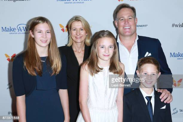 AnnaChristine Rising Christopher Rising and children attends the MakeAWish Greater Los Angeles 2017 Wish Gala at Hollywood Palladium on November 9...