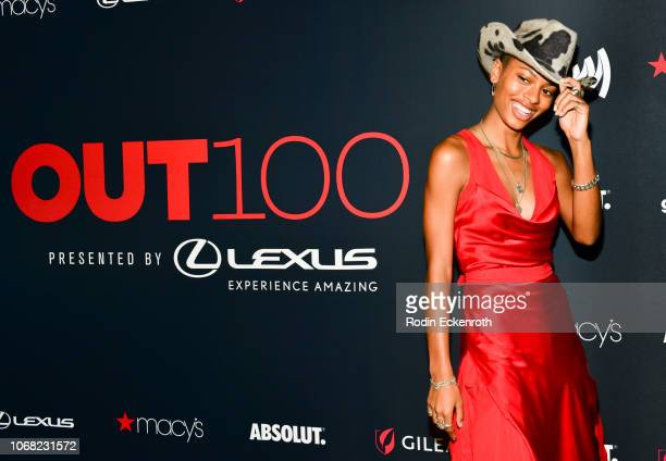 Annahstasia Enuke attends Out Magazine's OUT100 Awards Celebration Presented By Lexus at Quixote Studios on November 15 2018 in Los Angeles California
