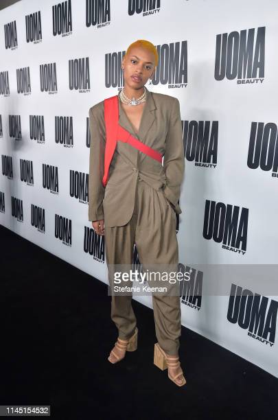 Annahstasia Enukeattends UOMA Beauty Launch Event at NeueHouse Hollywood on April 25 2019 in Los Angeles California