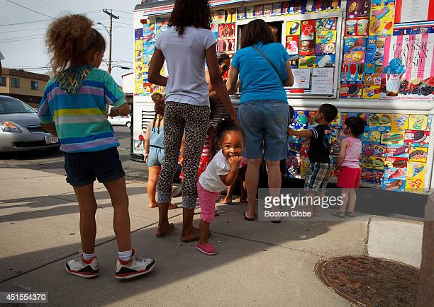 Annajah Brown could barely contain her excitement while she waited for the ice cream truck at Tufts Park in Medford Mass on June 29 2014