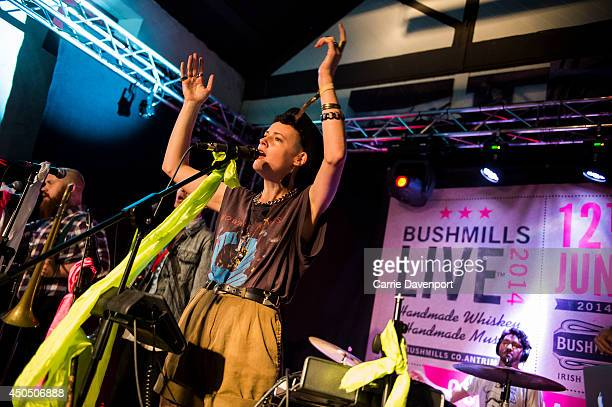 Annakalmia Traver of Rubblebucket performs during Bushmills Live 2014 festival at Old Bushmills Distillery on June 12 2014 in Bushmills Northern...