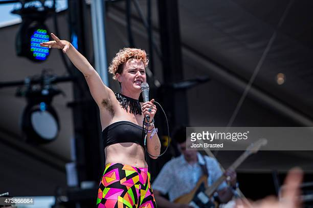 Annakalmia Traver of Rubblebucket performs during the Hangout Music Festilal on May 17 2015 in Gulf Shores Alabama
