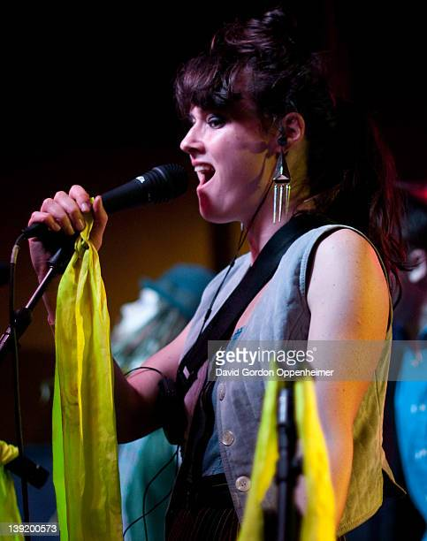 Annakalmia Traver performs with Rubblebucket at Asheville Music Hall on February 16 2012 in Asheville North Carolina