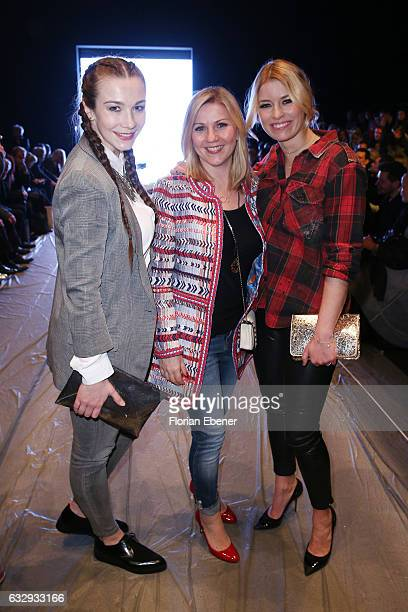 AnnaKatharina Samsel Aleksandra Bechtel and Annica Hansen attend the PF Selected show during Platform Fashion January 2017 at Areal Boehler on...
