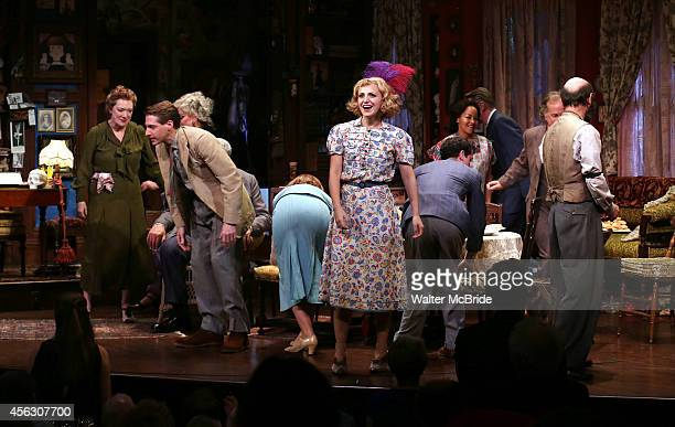 Annaleigh Ashford and cast during the Broadway Opening Night performance Curtain Call for 'You Can't Take It With You' at the Longarce Theatre on...