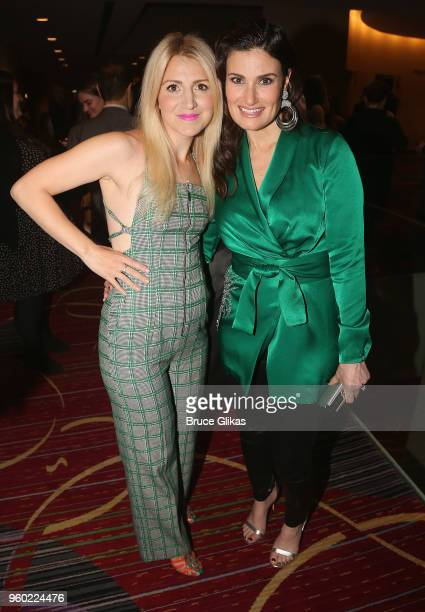 Annaleigh Ashford and Idina Menzel pose at The 2018 Drama League Awards at The Marriott Marquis Times Square on May 18 2018 in New York City