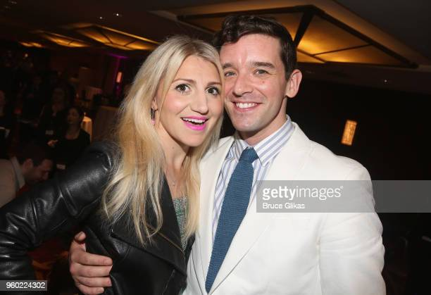 Annaleigh Ashford and Michael Urie pose at The 2018 Drama League Awards at The Marriott Marquis Times Square on May 18 2018 in New York City