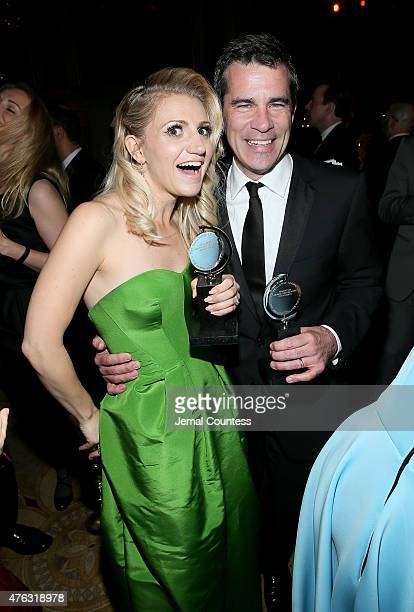 Annaleigh Ashford and Mike Isaacson attend the 2015 Tony Awards Gala at The Plaza Hotel on June 7 2015 in New York City