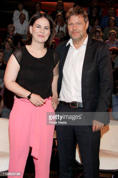 Annalena Baerbock and Robert Habeck during the Markus Lanz TV show on June 27 2019 in Hamburg Germany