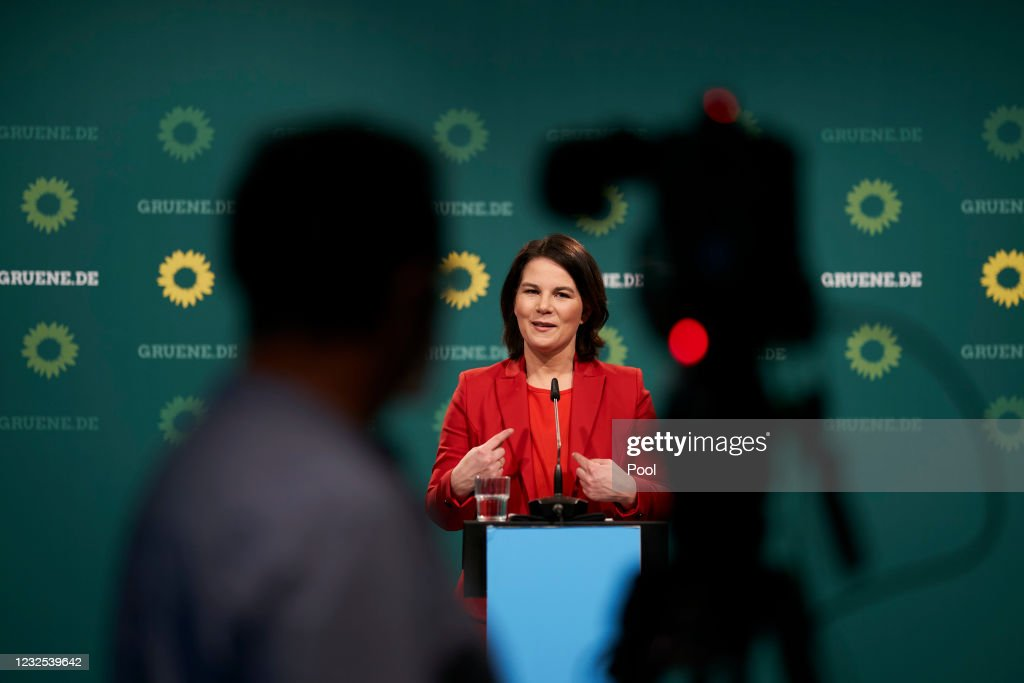 Annalena Baerbock, Chancellor Candidate Of The Greens Party, Holds Press Conference : News Photo